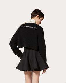 Wool Jumper with Poetry Detailing