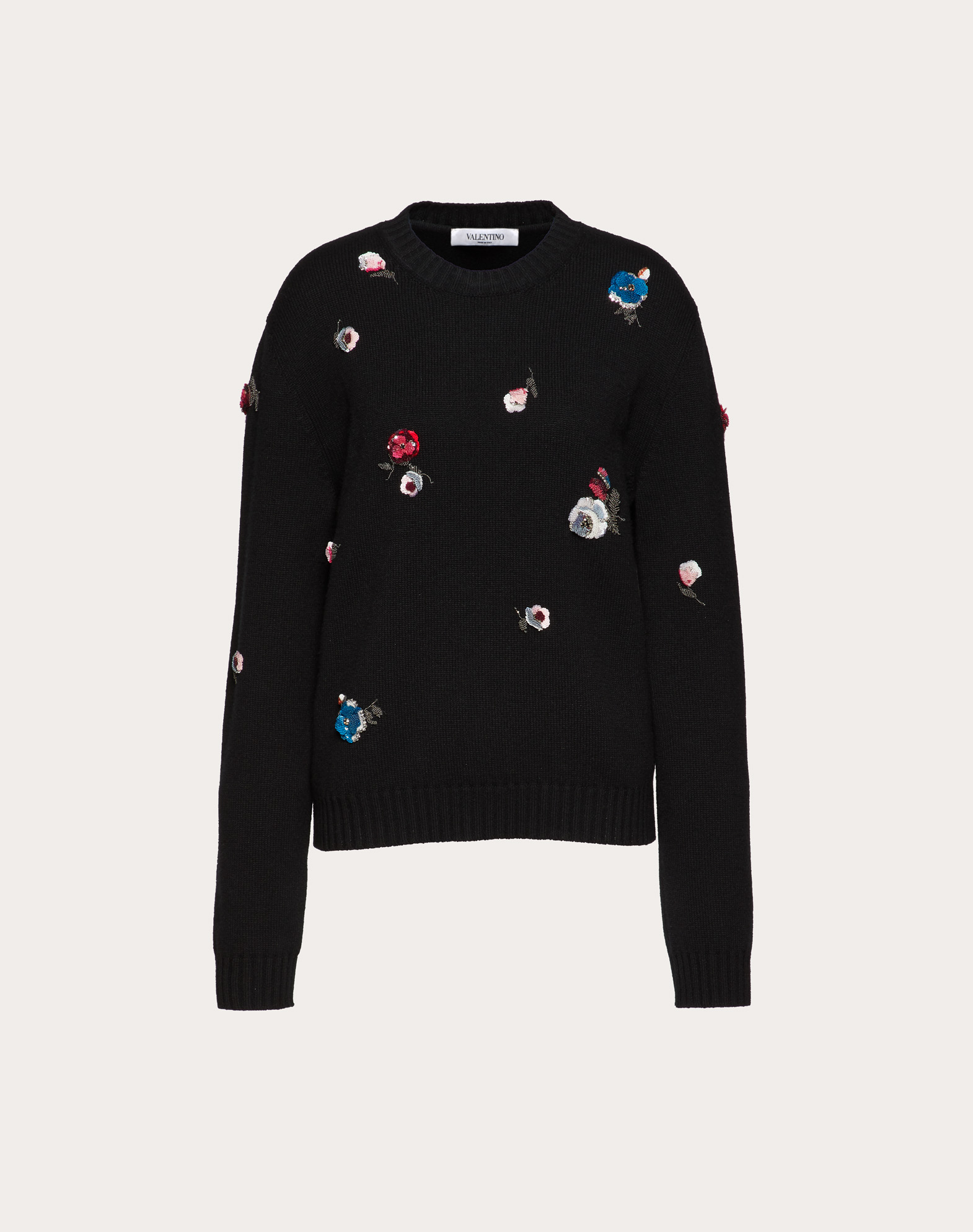 Embroidered Cashmere and Wool Jumper