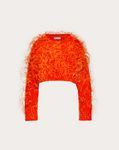 Feather Embroidery Cashmere and Wool Jumper
