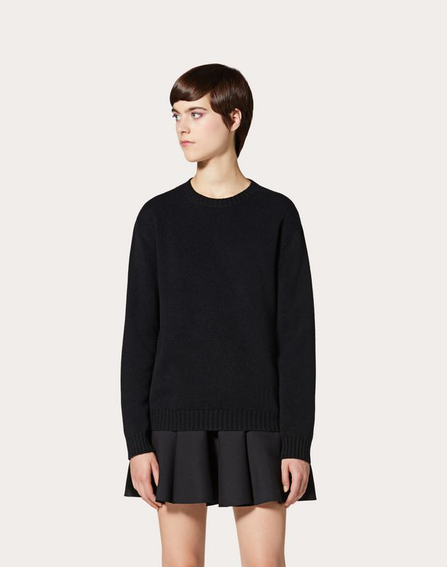 Cashmere Jumper with Poetry Detailing