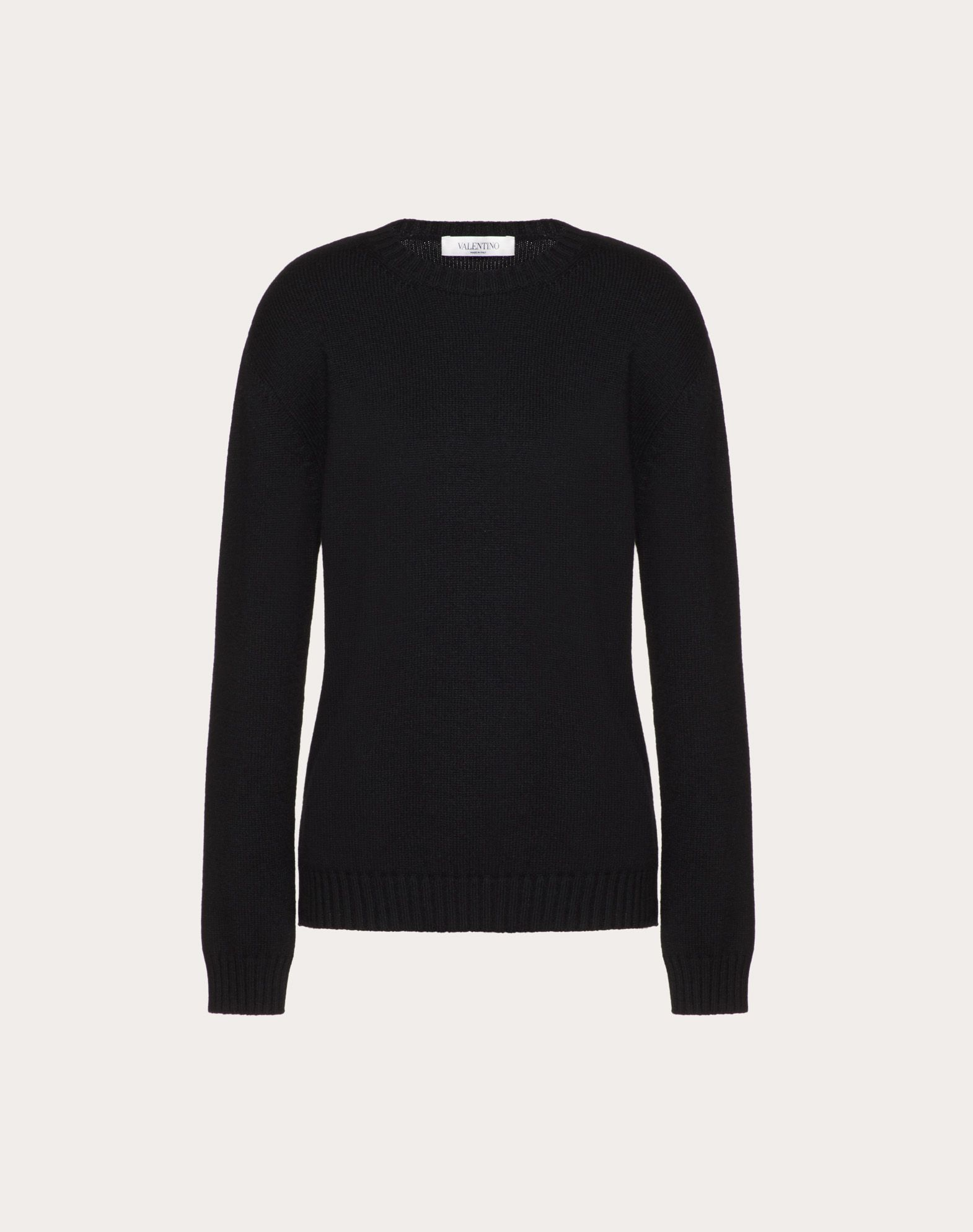 Cashmere Sweater with Poetry Detailing