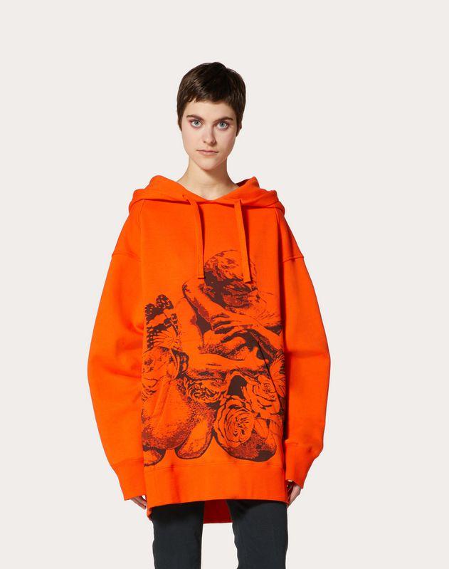 Sweatshirt stampata Undercover in Jersey di Cotone