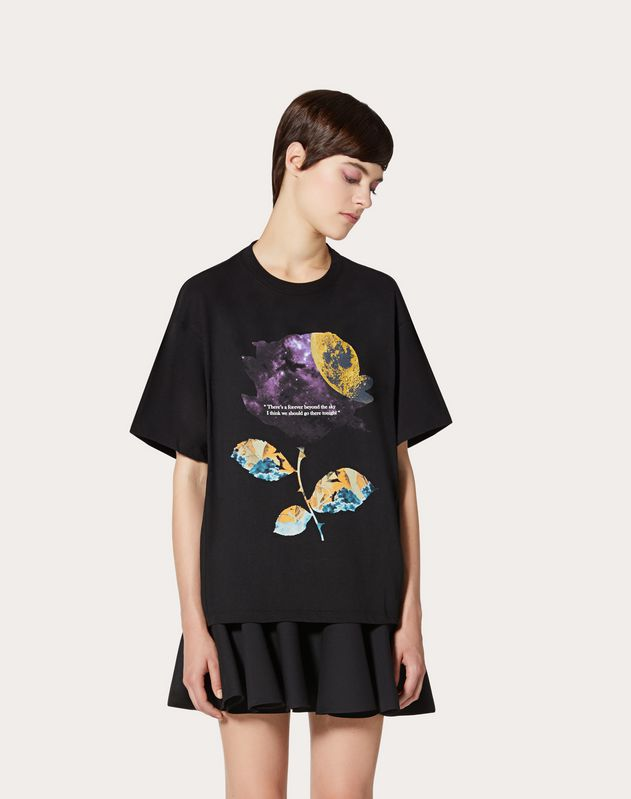 Camiseta estampada Undercover en punto de algodón
