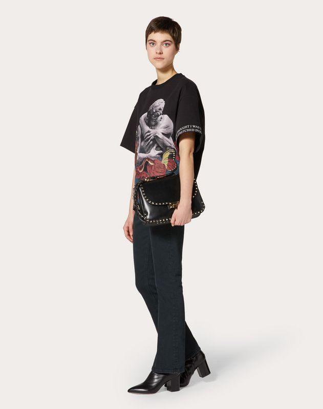 T-shirt stampata Undercover in Jersey di Cotone