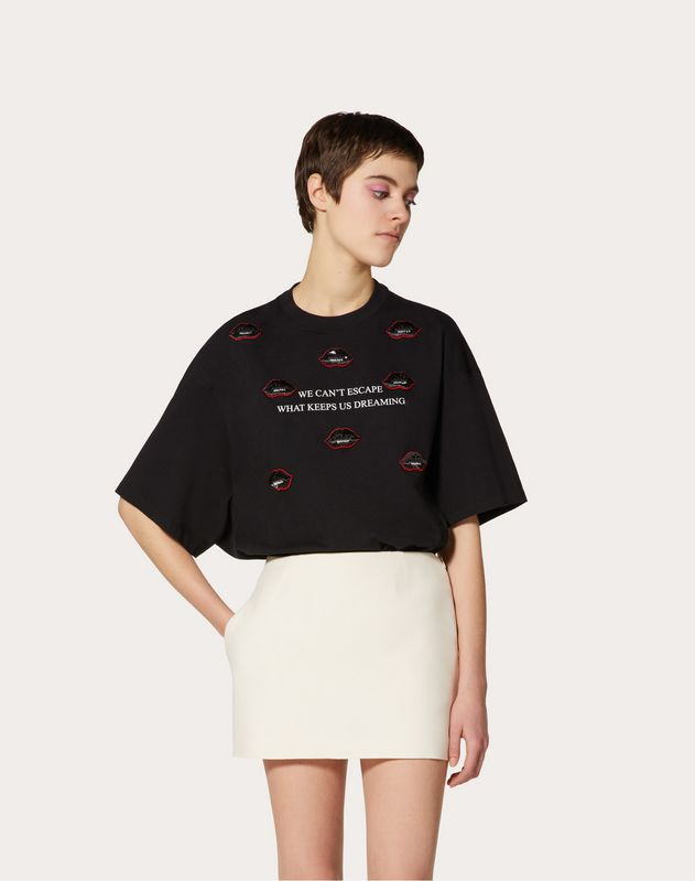 Undercover Cotton Jersey T-shirt with Embroidered Patch