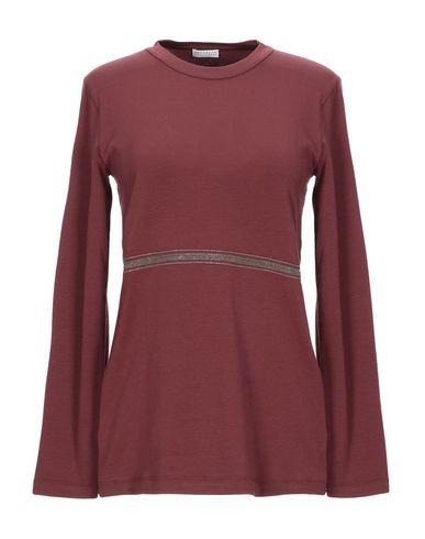 Купить Женскую футболку  красно-коричневого цвета