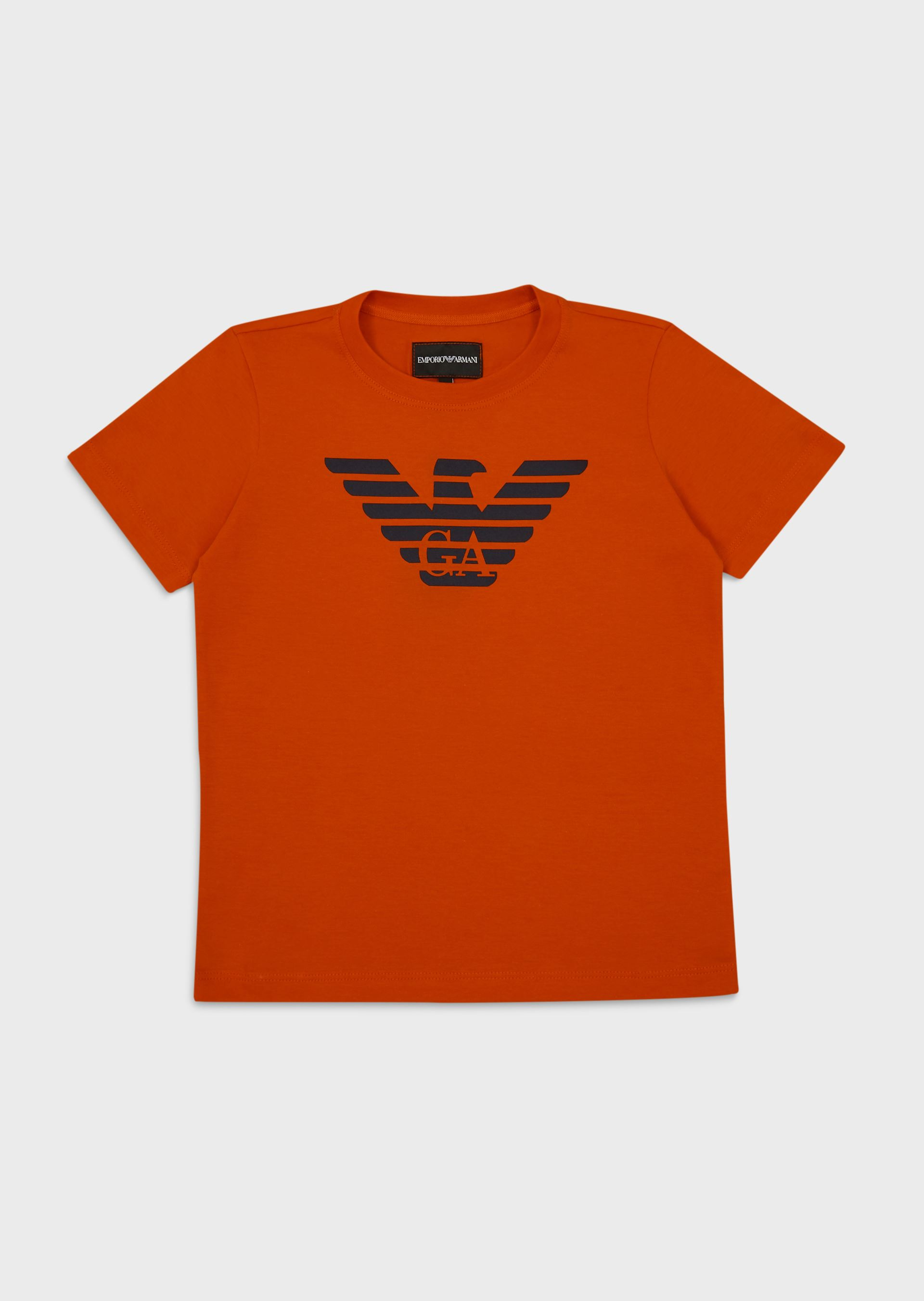 EMPORIO ARMANI Pima jersey T-shirt with eagle logo