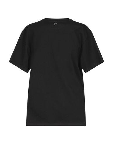 Фото 2 - Женскую футболку HEART MADE JULIE FAGERHOLT черного цвета