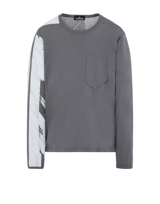 STONE ISLAND SHADOW PROJECT 20210 PRINTED LS CATCH POCKET-T  Langärmliges Shirt Herr Grau