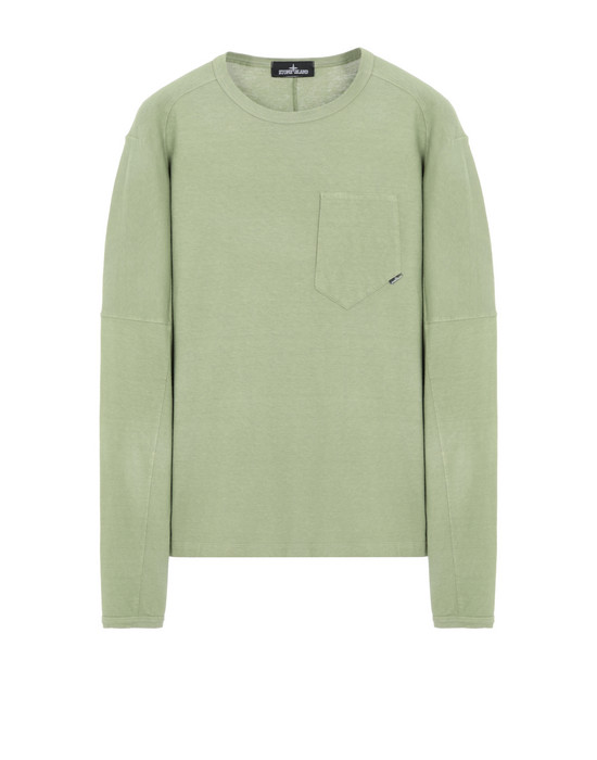 STONE ISLAND SHADOW PROJECT 20411 LONG SLEEVE CATCH POCKET-T Long sleeve t-shirt Man Olive Green
