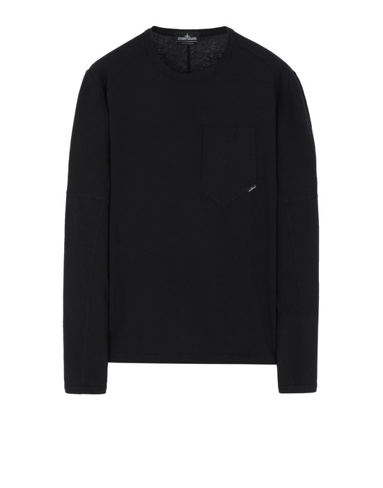 STONE ISLAND SHADOW PROJECT 20411 LONG SLEEVE CATCH POCKET-T 长袖 T 恤 男士 黑色