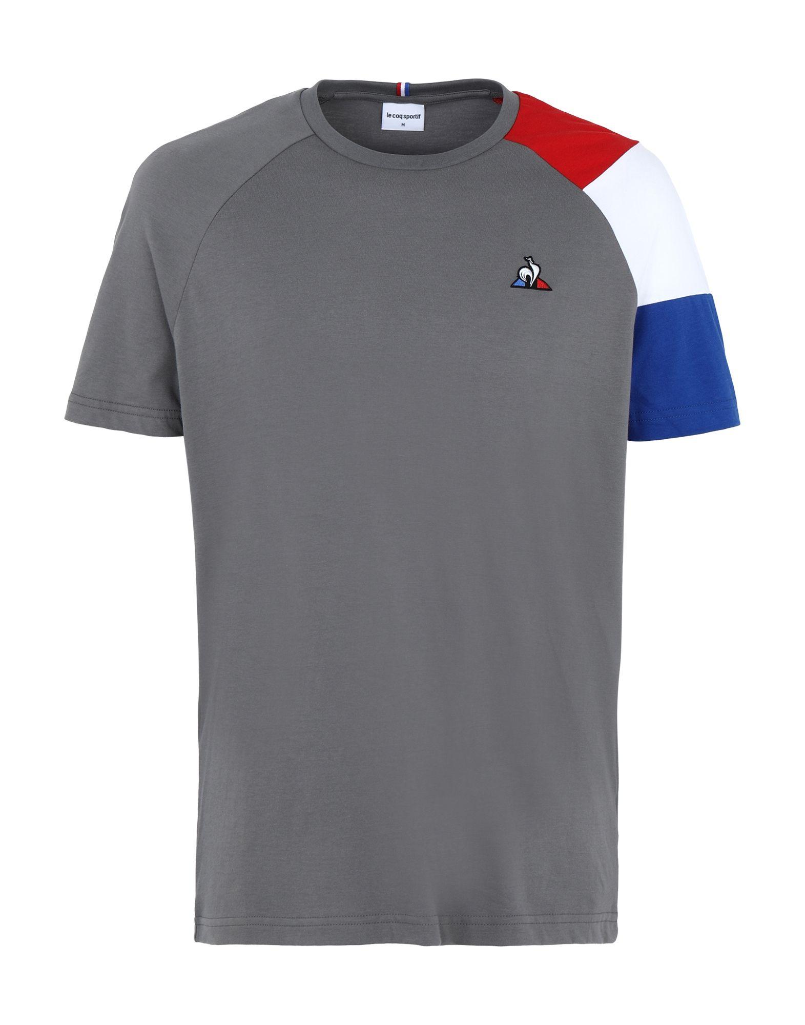 《セール開催中》LE COQ SPORTIF メンズ T シャツ グレー M コットン 100% ESS Tee SS N°10