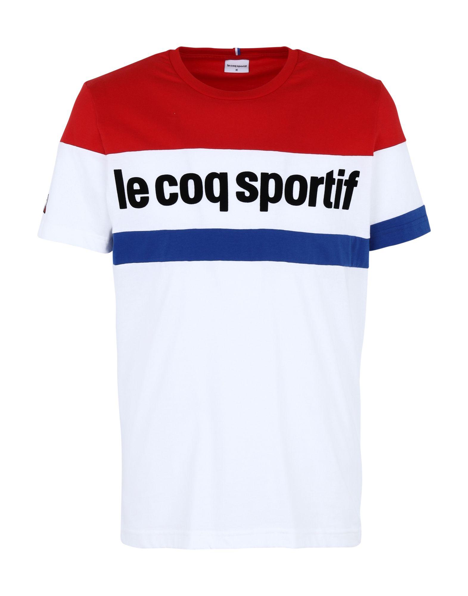 《セール開催中》LE COQ SPORTIF メンズ T シャツ ホワイト S コットン 100% TRI Tee SS N°1