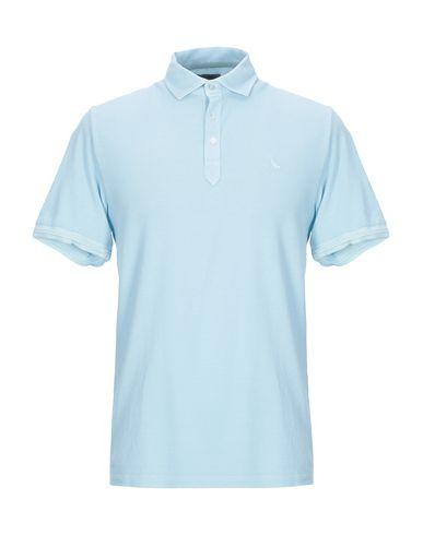 Купить Мужское поло GRAN SASSO небесно-голубого цвета