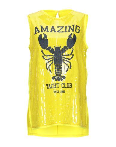Купить Топ без рукавов от P.A.R.O.S.H. желтого цвета
