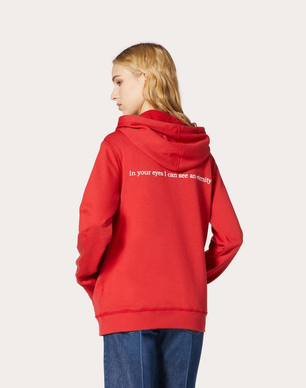 VALENTINO LOVE HOODED SWEATSHIRT