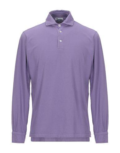 Купить Мужское поло  фиолетового цвета