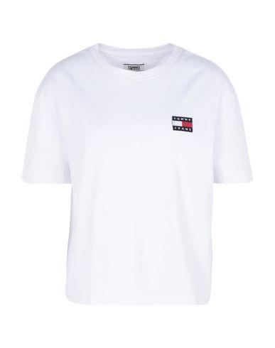 Купить Женскую футболку TOMMY JEANS белого цвета