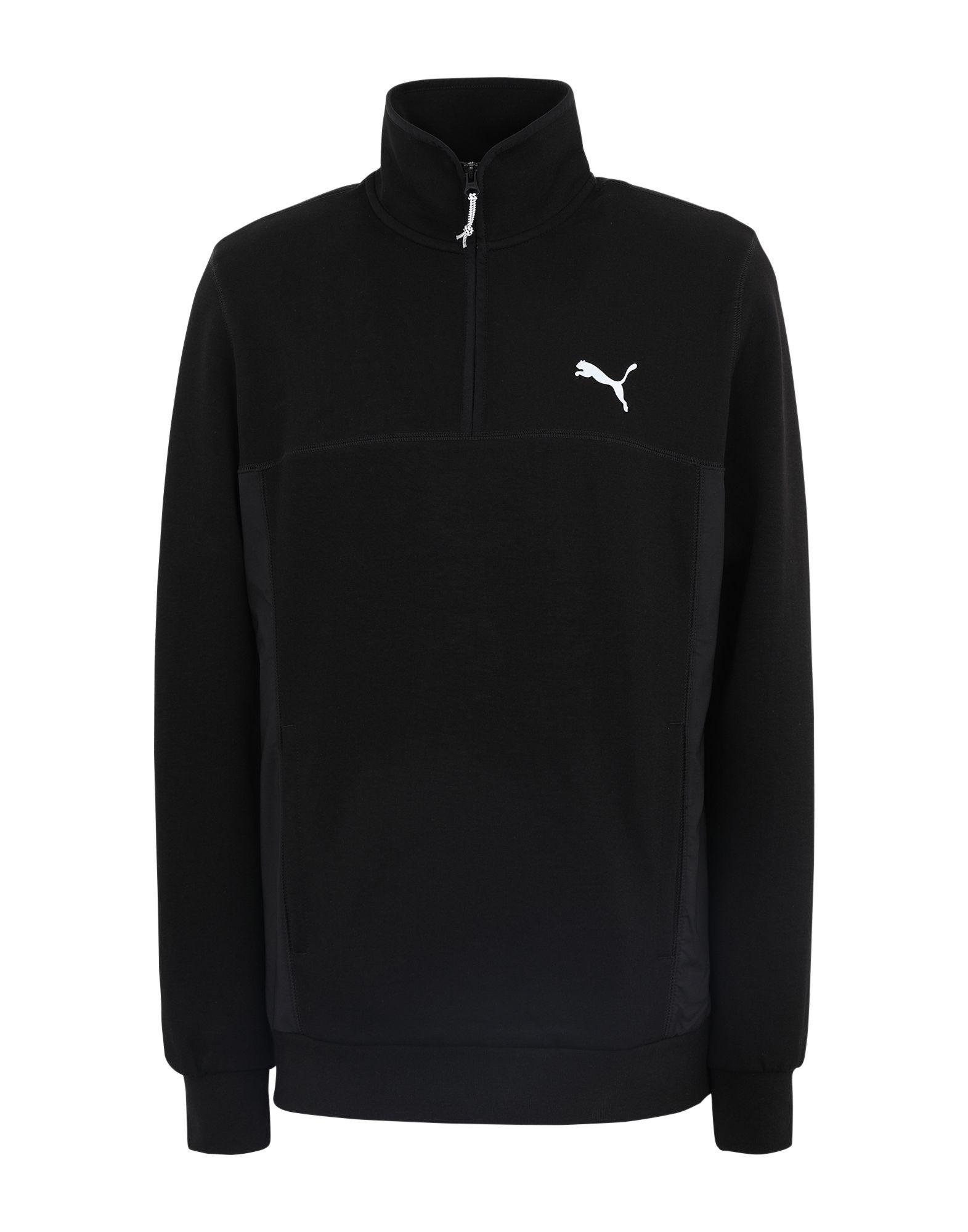 《期間限定セール開催中!》PUMA メンズ スウェットシャツ ブラック S コットン 68% / ポリエステル 32% Epoch Hybrid Savannah
