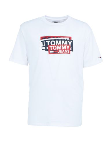 Фото - Женскую футболку TOMMY JEANS белого цвета
