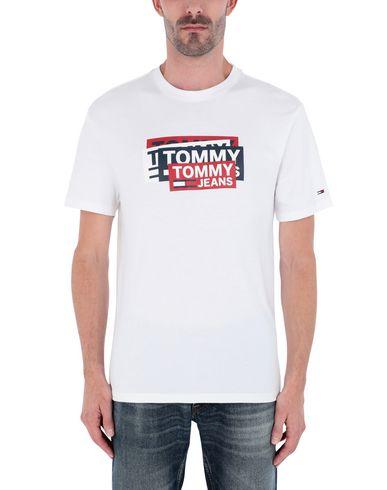 Фото 2 - Женскую футболку TOMMY JEANS белого цвета
