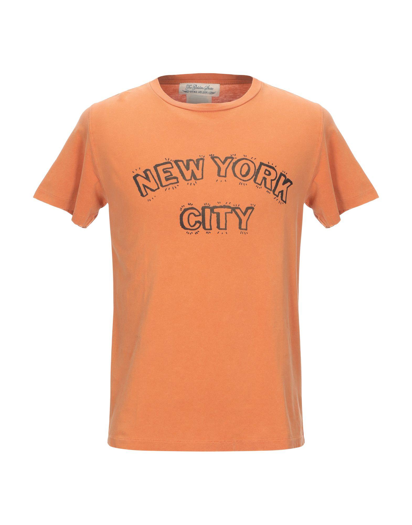 《期間限定 セール開催中》REMI RELIEF メンズ T シャツ オレンジ S コットン 100%