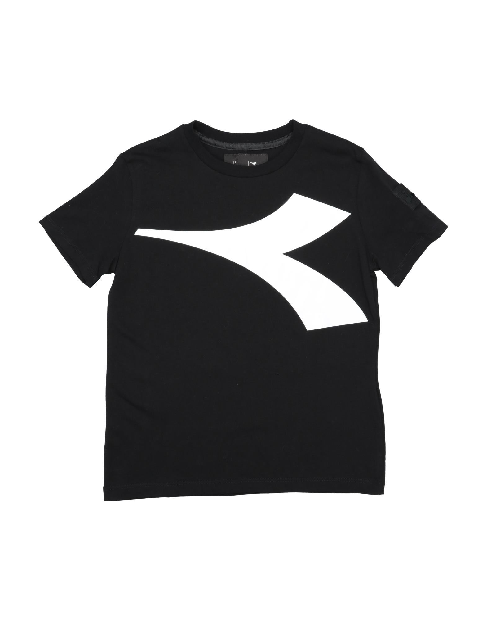Diadora Kids' T-shirts In Black