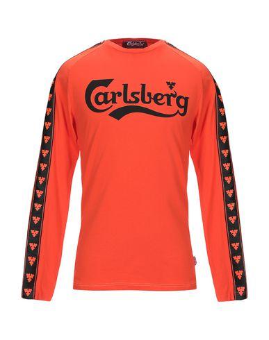 Купить Женскую футболку CARLSBERG оранжевого цвета