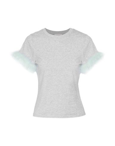 Фото - Женскую футболку CINQ À SEPT светло-серого цвета