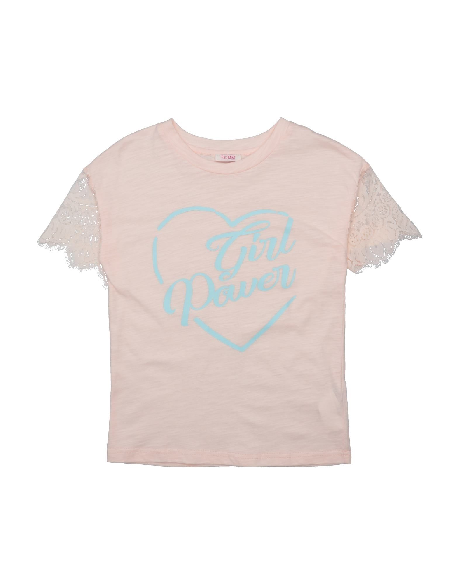 Fracomina Mini Kids' T-shirts In Pink