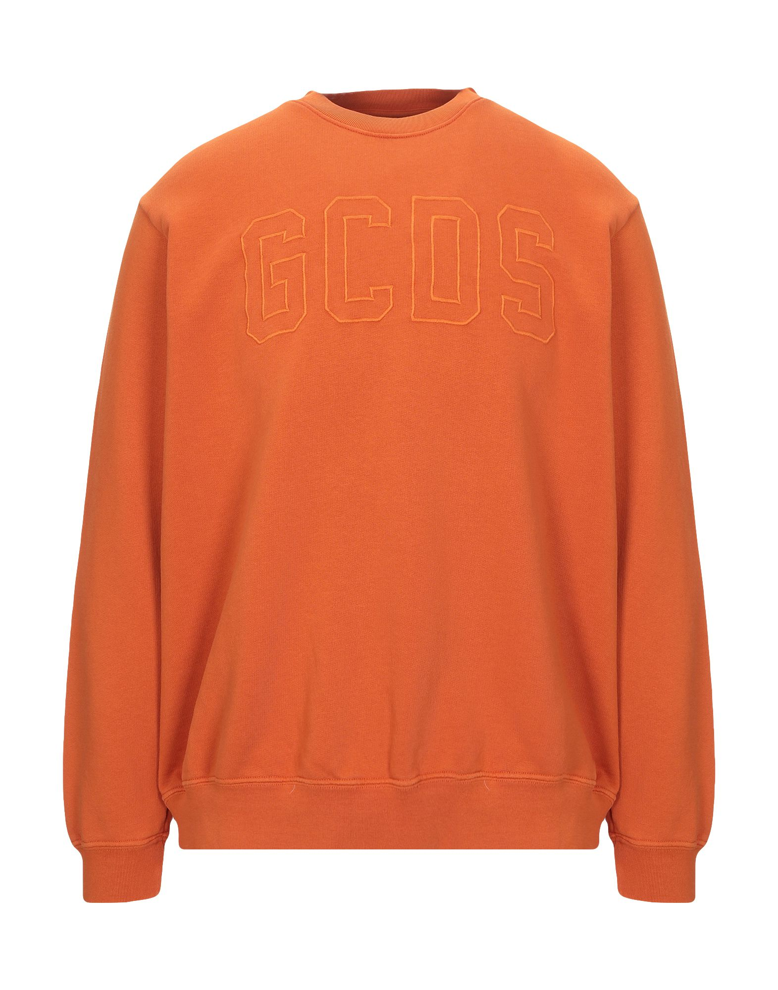 GCDS Sweatshirts. logo, basic solid color, round collar, long sleeves, no pockets, french terry lining. 100% Cotton