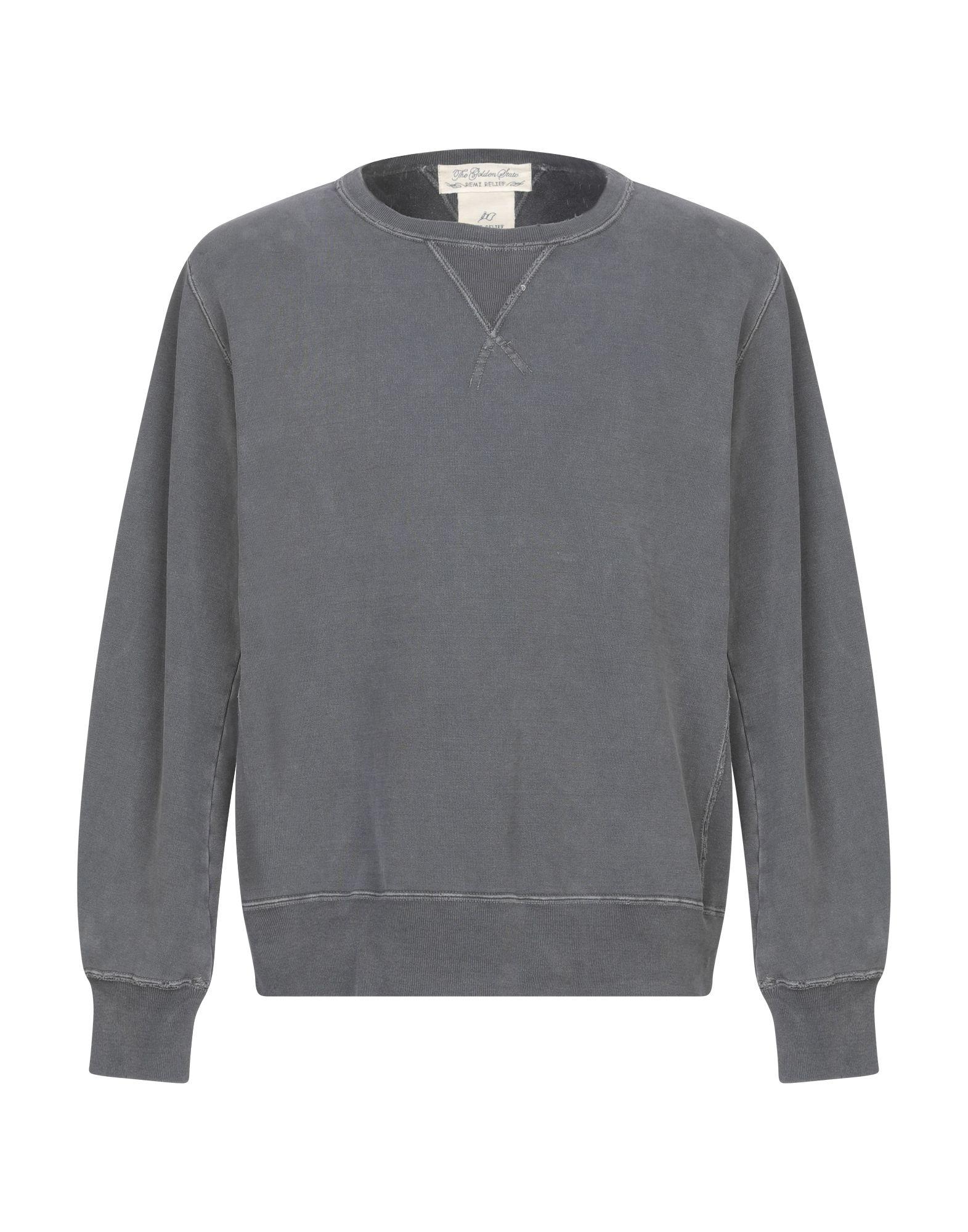 《期間限定 セール開催中》REMI RELIEF メンズ スウェットシャツ スチールグレー L コットン