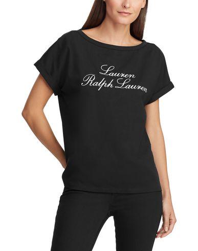 Фото 2 - Женскую футболку LAUREN RALPH LAUREN черного цвета