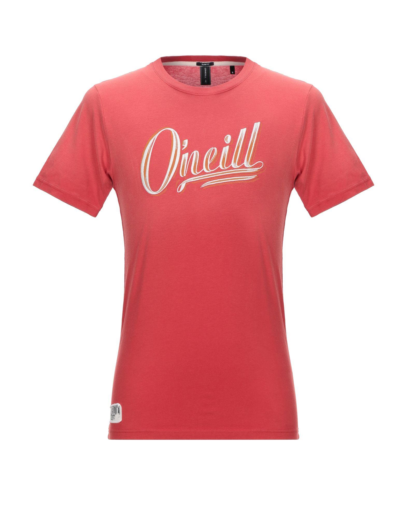 《期間限定セール開催中!》O'NEILL メンズ T シャツ レッド S コットン 100%