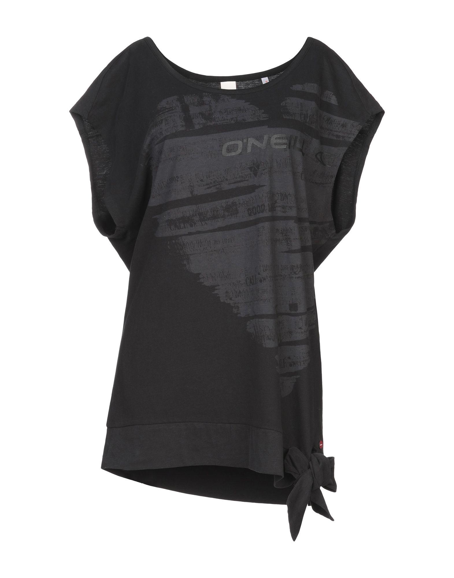 《期間限定セール開催中!》O'NEILL レディース T シャツ ブラック M コットン 100%