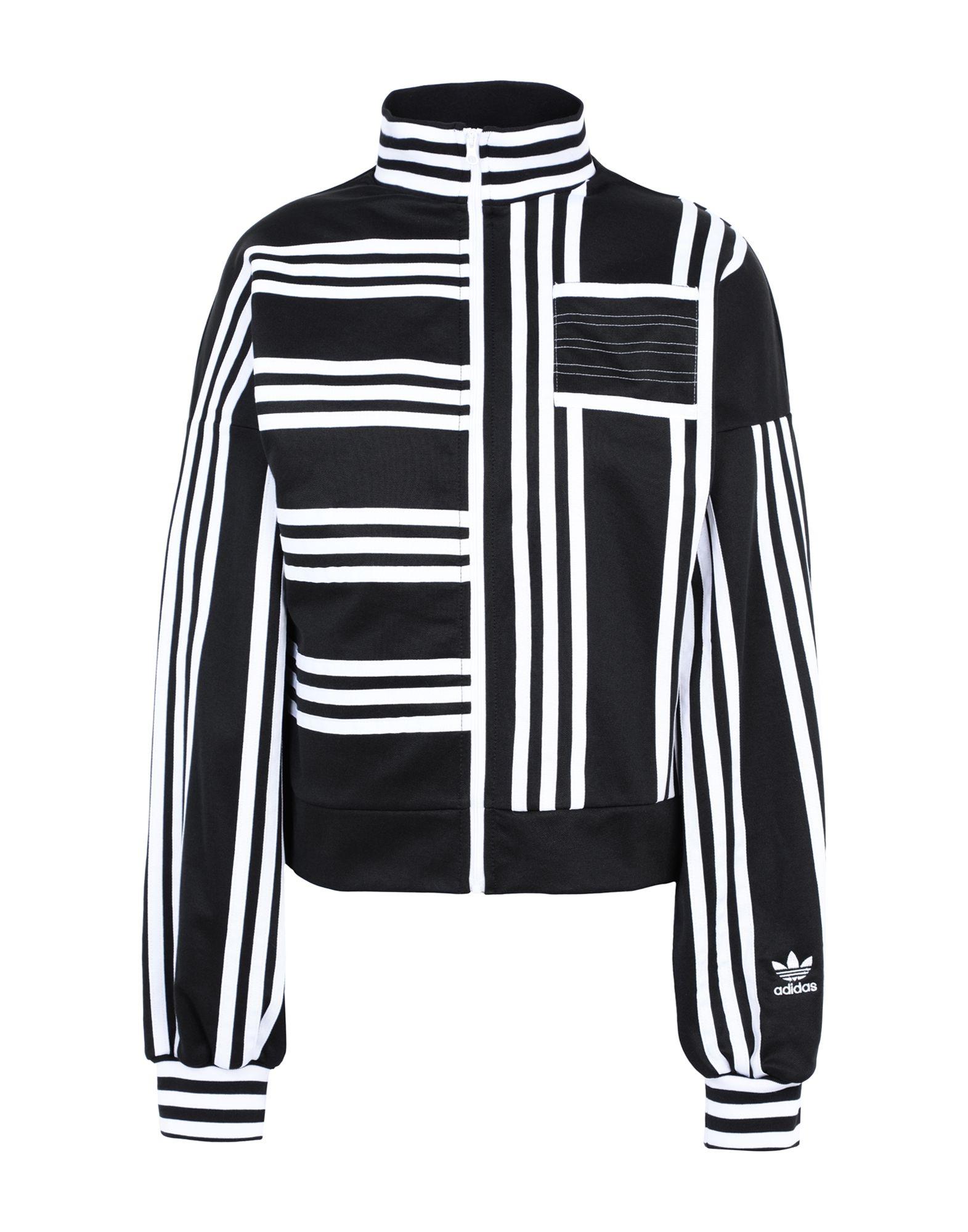 《期間限定 セール開催中》ADIDAS ORIGINALS x JI WON CHOI レディース スウェットシャツ ブラック 34 コットン 52% / ポリエステル 48% TRACKTOP