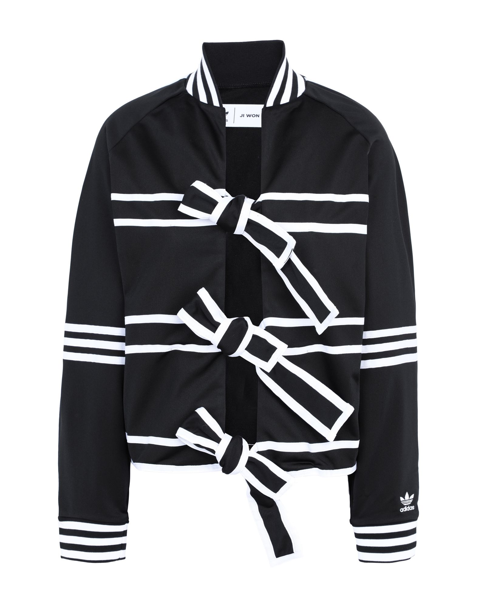 《期間限定 セール開催中》ADIDAS ORIGINALS x JI WON CHOI レディース スウェットシャツ ブラック 34 リサイクルポリエステル 100% TRACKTOP