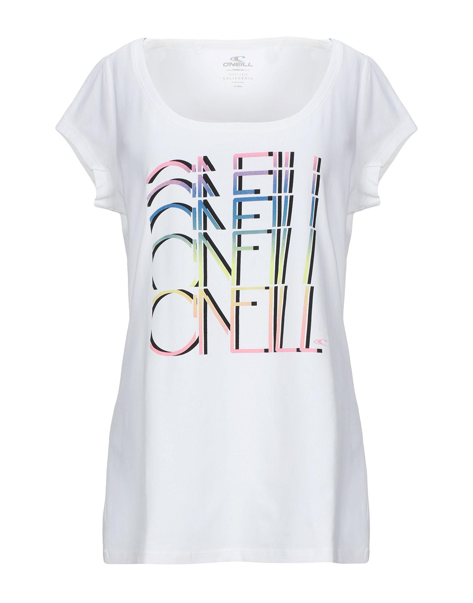 《期間限定セール開催中!》O'NEILL レディース T シャツ ホワイト XL コットン 95% / ポリウレタン 5%