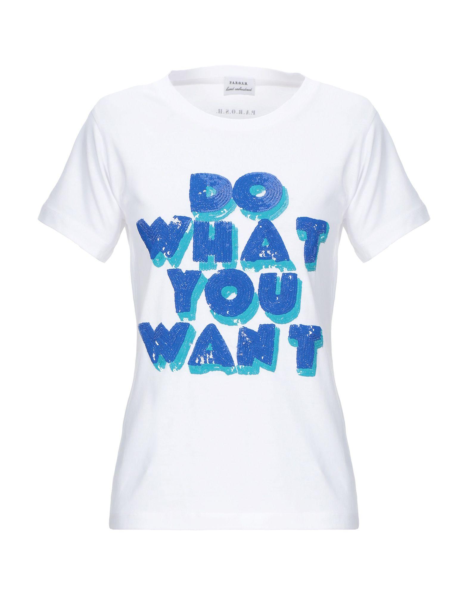 《期間限定セール開催中!》P.A.R.O.S.H. レディース T シャツ ホワイト XS コットン 100%