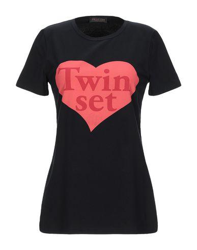 Купить Женскую футболку TWINSET черного цвета