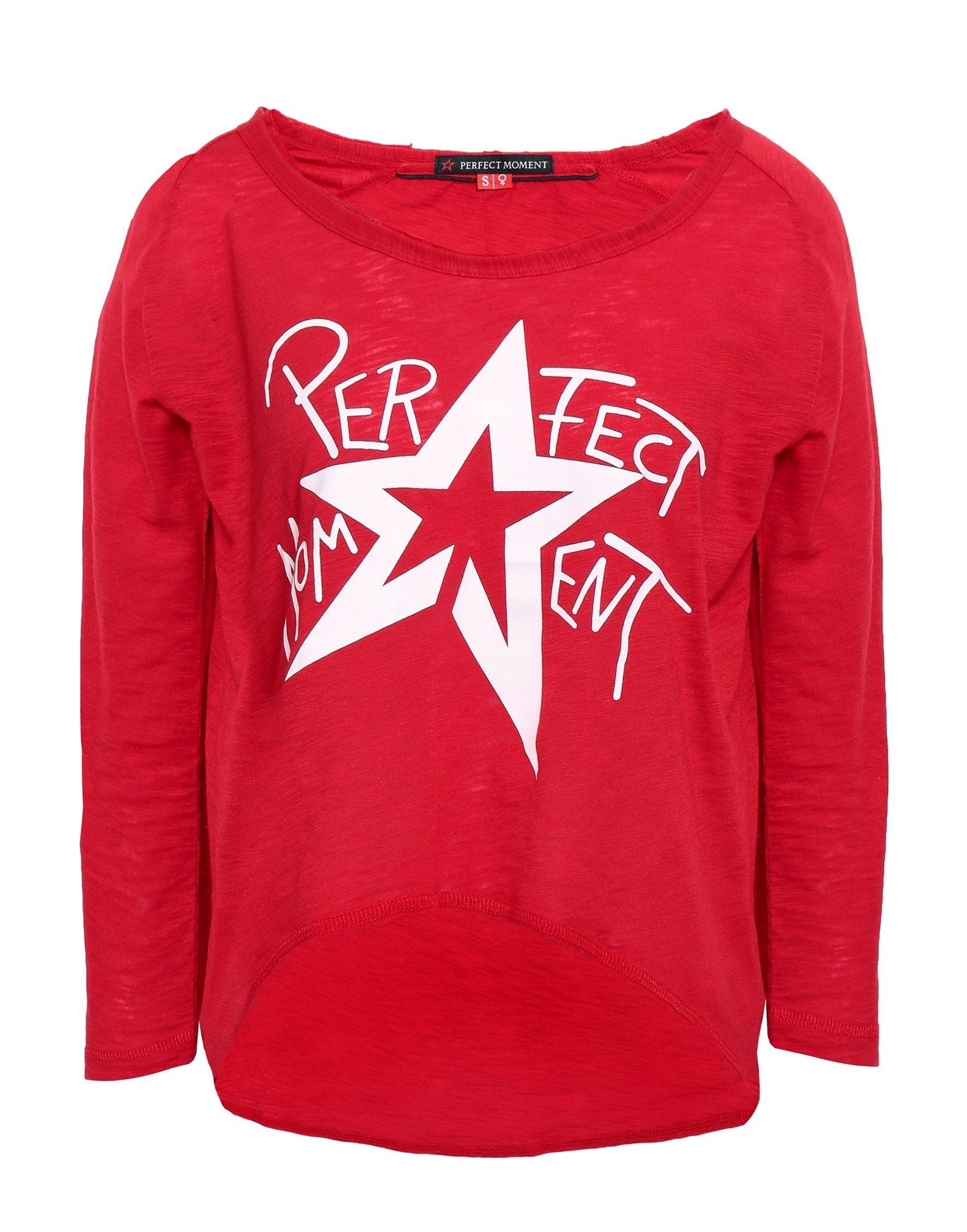 《セール開催中》PERFECT MOMENT レディース T シャツ レッド XS コットン 60% / ポリエステル 40%