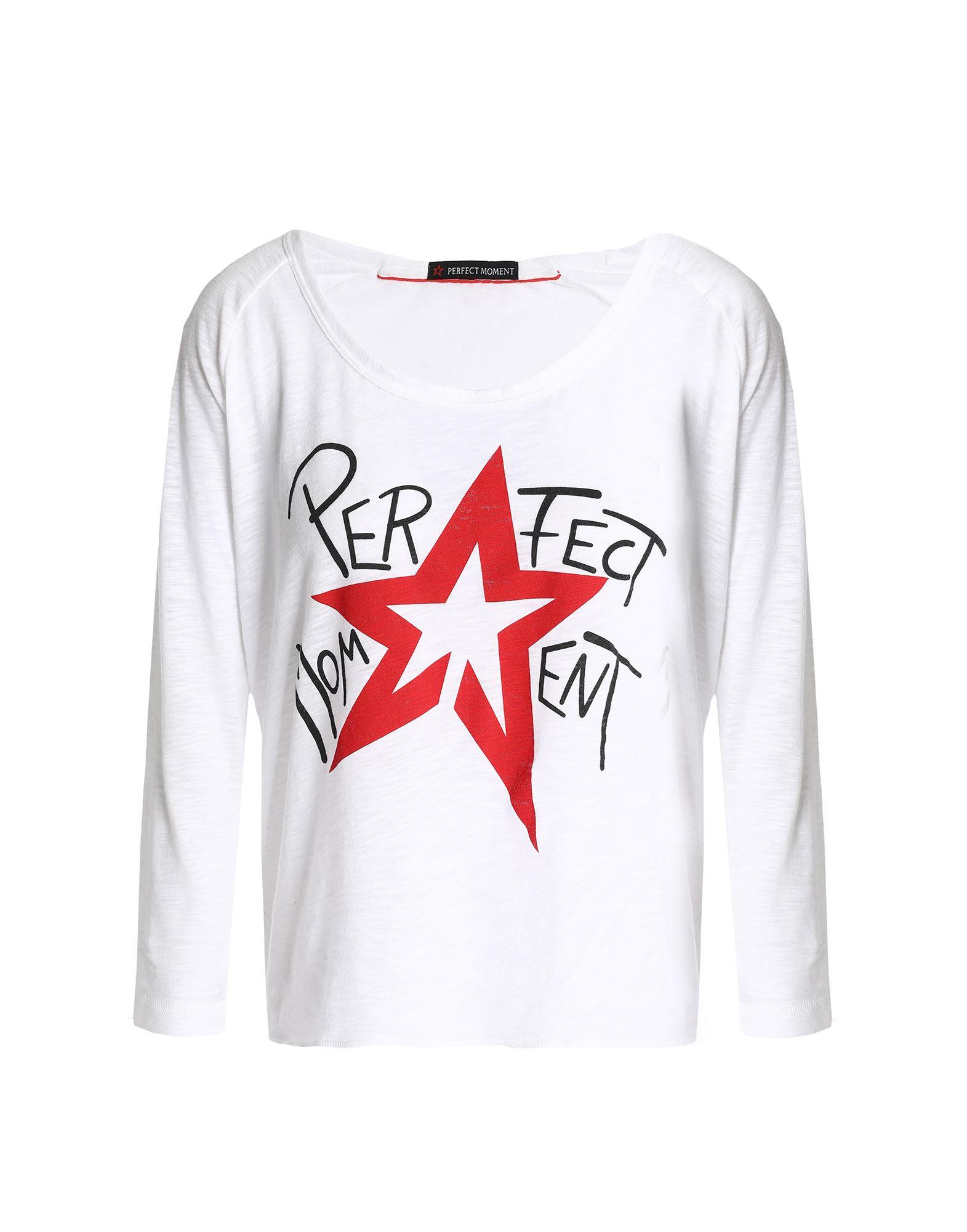 《セール開催中》PERFECT MOMENT レディース T シャツ ホワイト XS コットン 60% / ポリエステル 40%