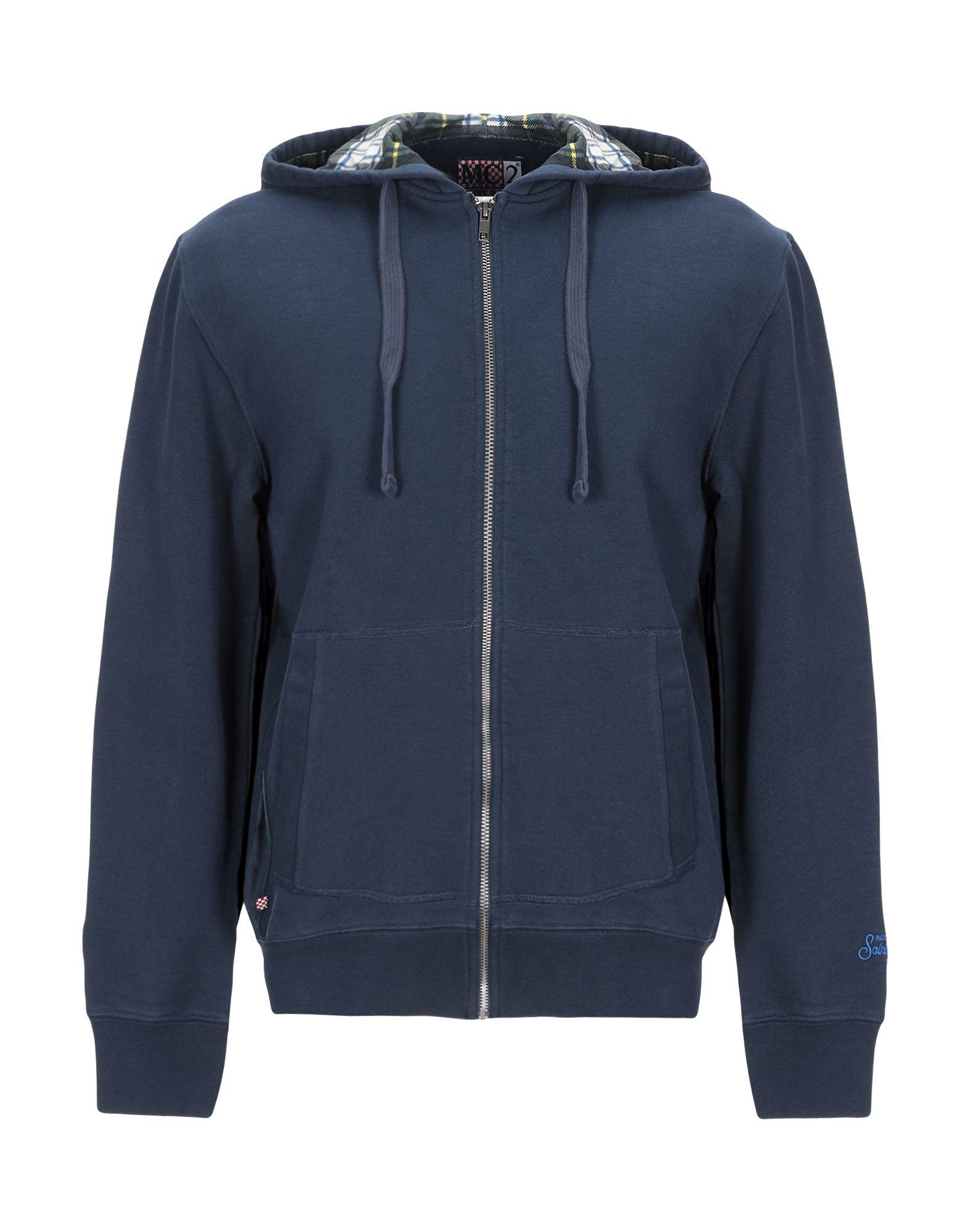 《セール開催中》MC2 SAINT BARTH メンズ スウェットシャツ ダークブルー S コットン 100%