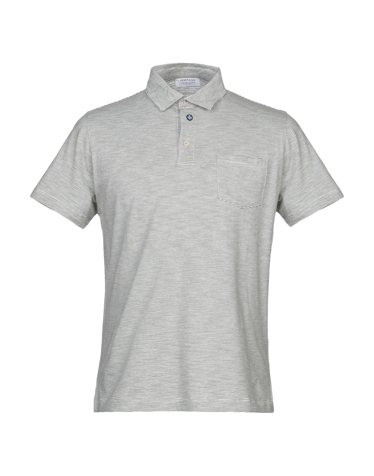 《期間限定 セール開催中》HERITAGE メンズ ポロシャツ グリーン 50 コットン 100%