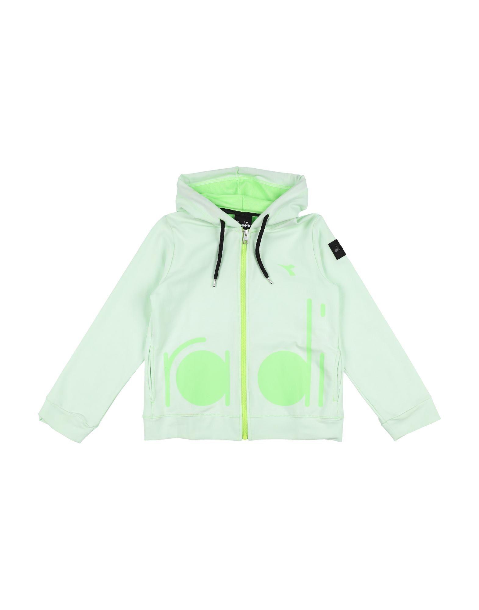 《セール開催中》DIADORA ガールズ 9-16 歳 スウェットシャツ ライトグリーン 10 コットン 100%
