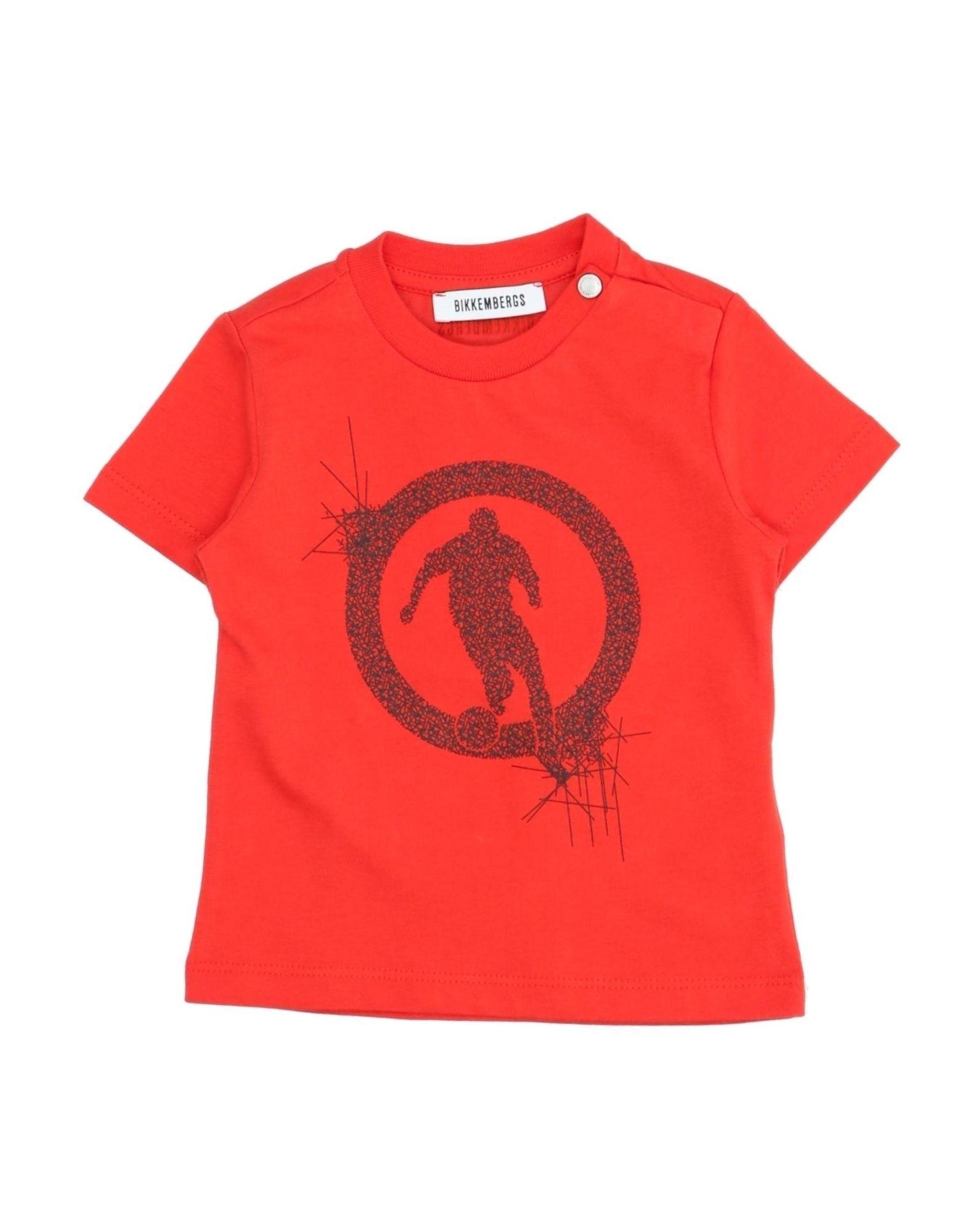 Bikkembergs Kids' T-shirts In Red