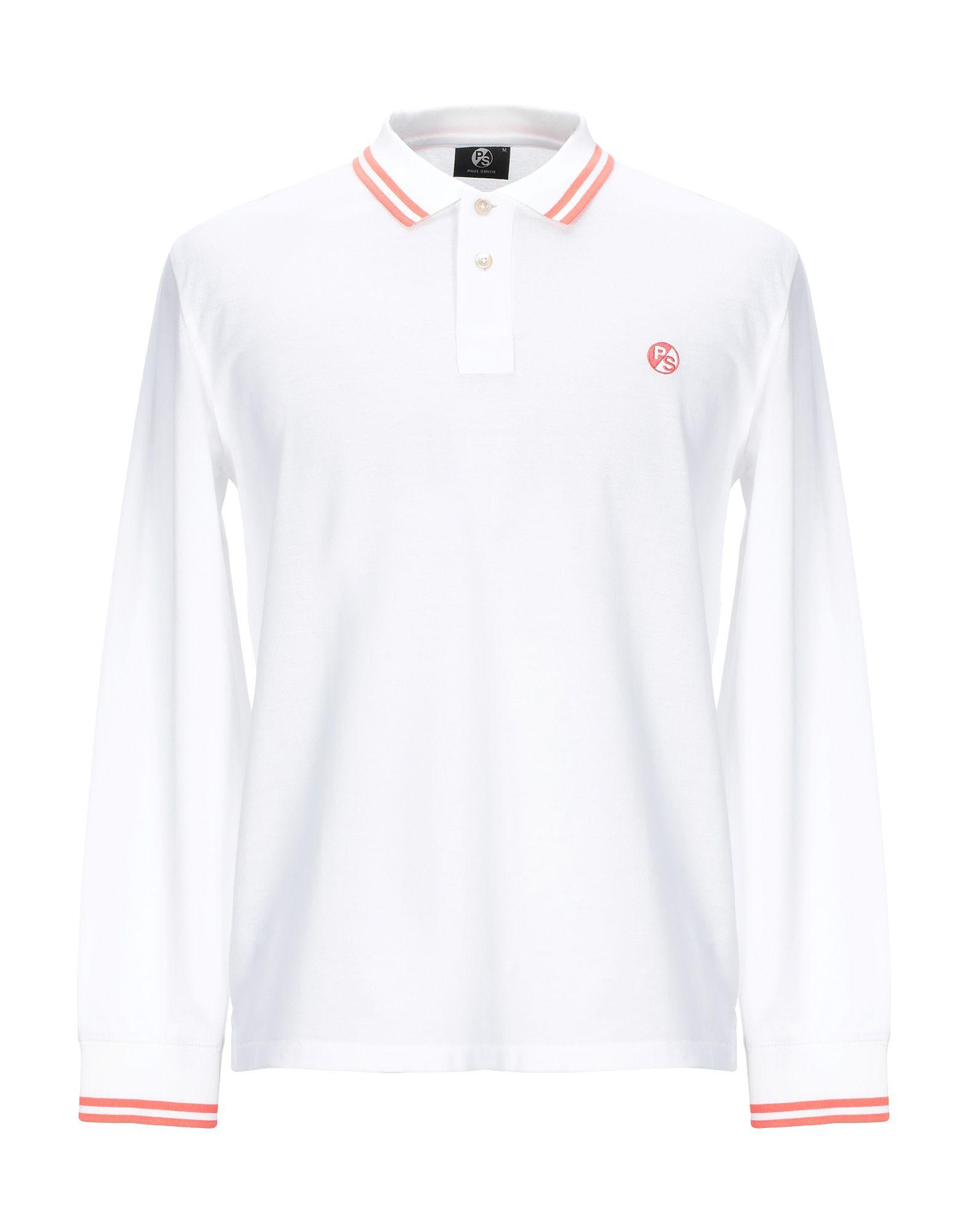 《セール開催中》PS PAUL SMITH メンズ ポロシャツ ホワイト M コットン 100%