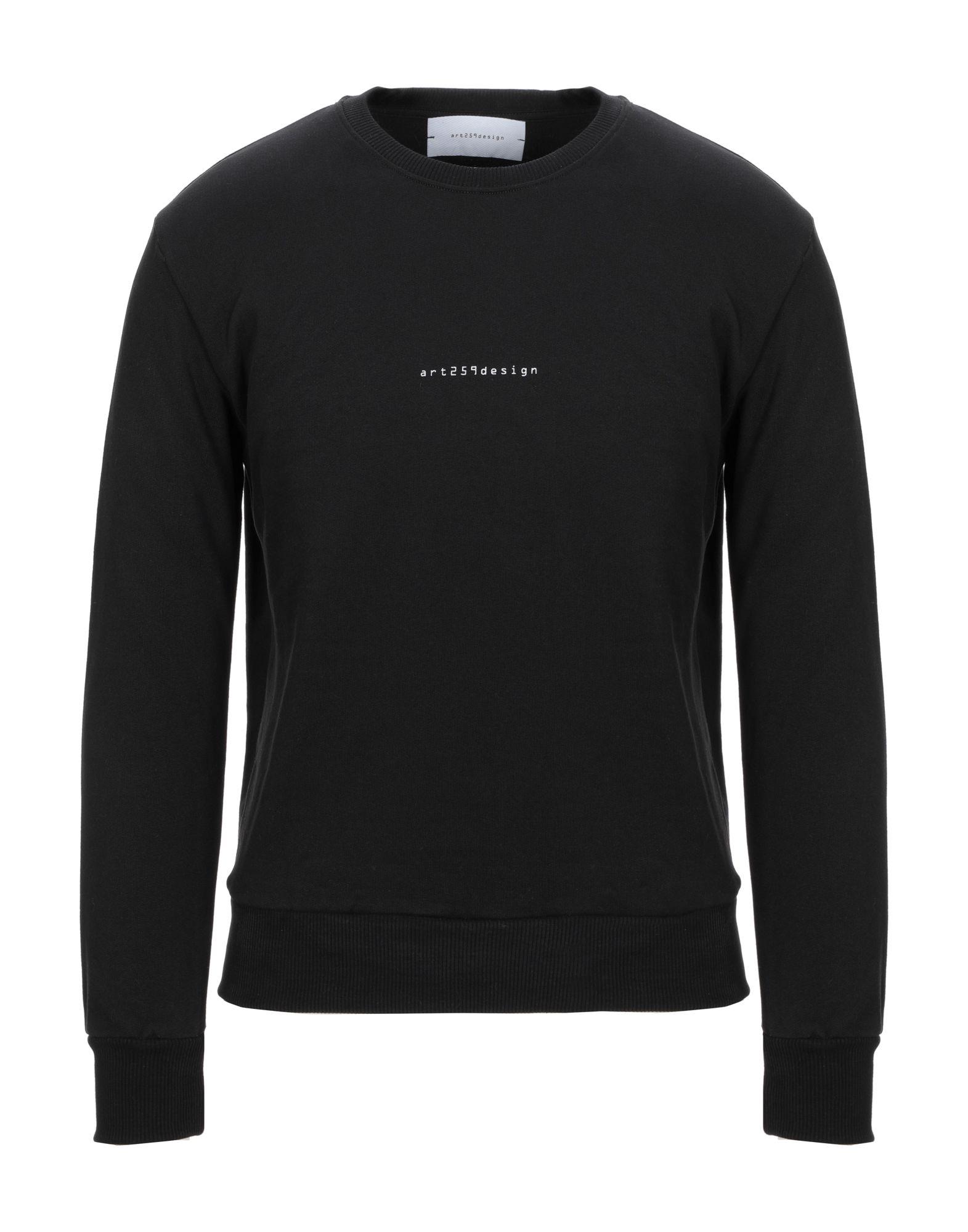 《セール開催中》ART 259 DESIGN by ALBERTO AFFINITO メンズ スウェットシャツ ブラック XS コットン 100%
