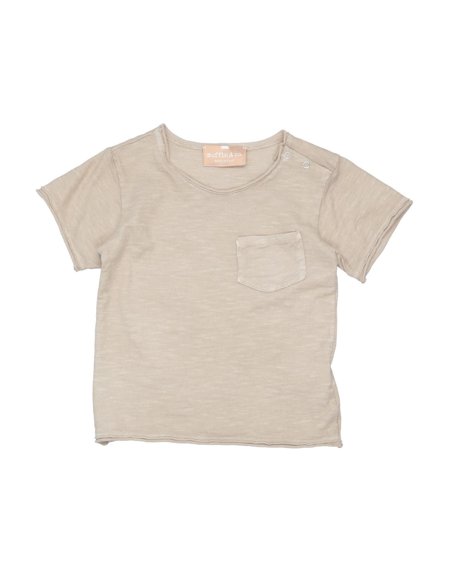 Muffin & Co. Kids' T-shirts In Beige