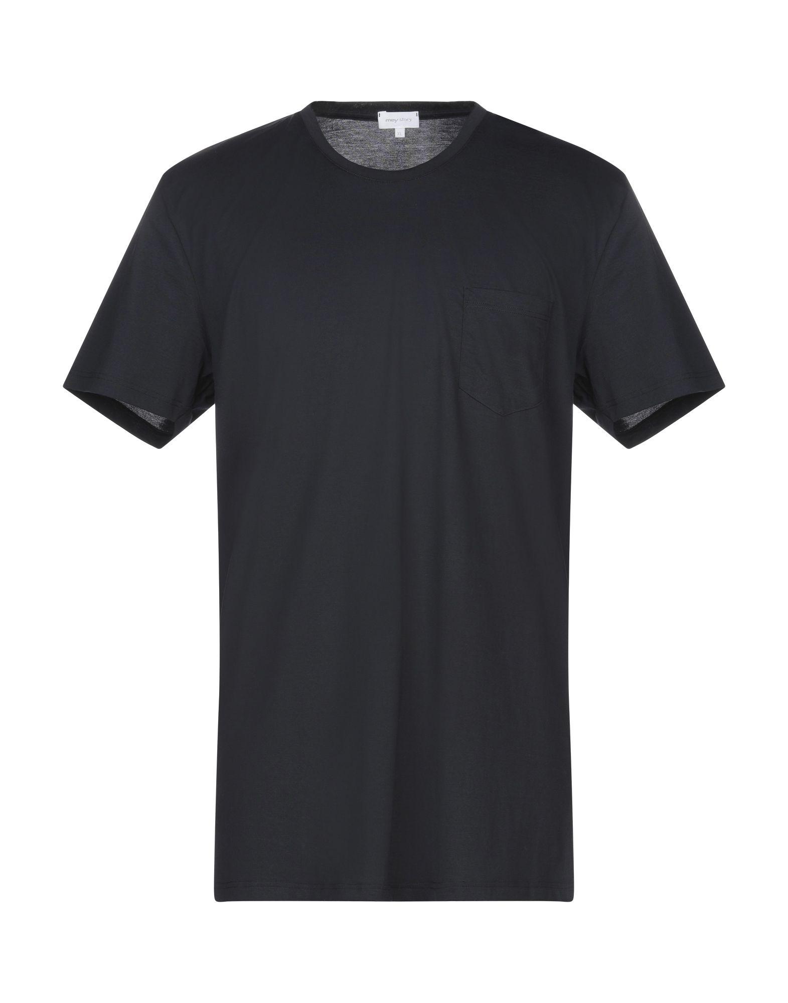 《セール開催中》MEY STORY メンズ T シャツ ダークブルー XL コットン 100%